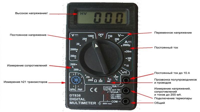Инструкция пользования тестером по электричеству