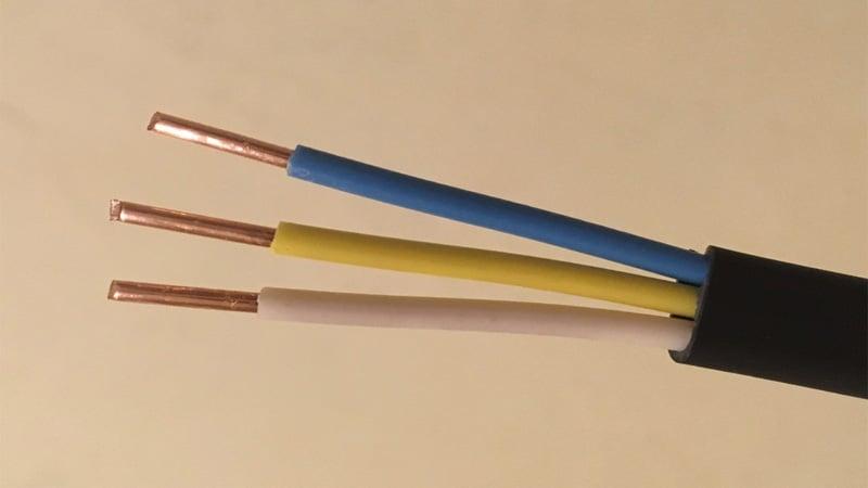 Цвета проводов в трехжильном кабеле