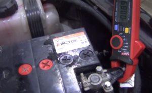 Измерение пускового тока на аккумуляторе