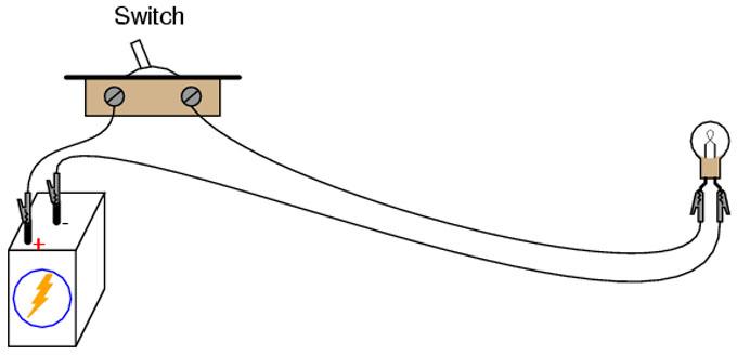 Простая схема подключения с тумблером