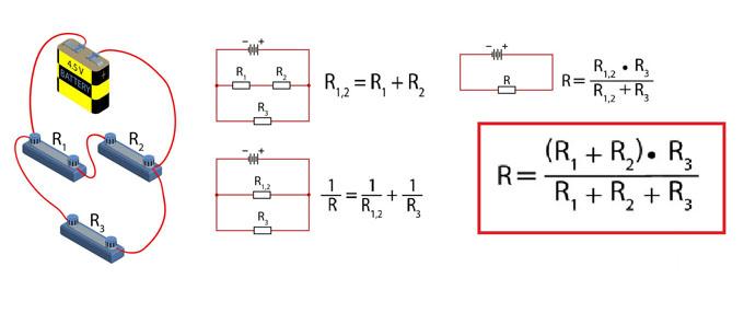 Смешанное соединение, резисторы и формулы расчета