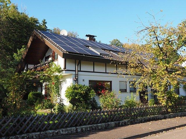 Дом запитанный солнечной батареей
